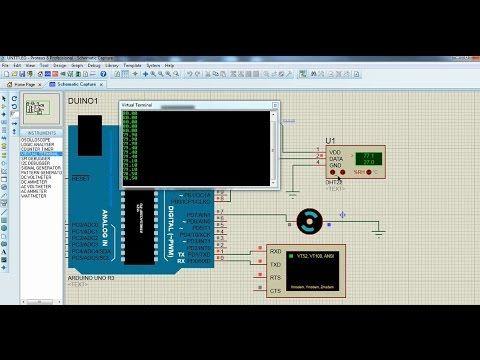 DHT22 Temperature & Humidity Sensor to Arduino Proteus Simulation