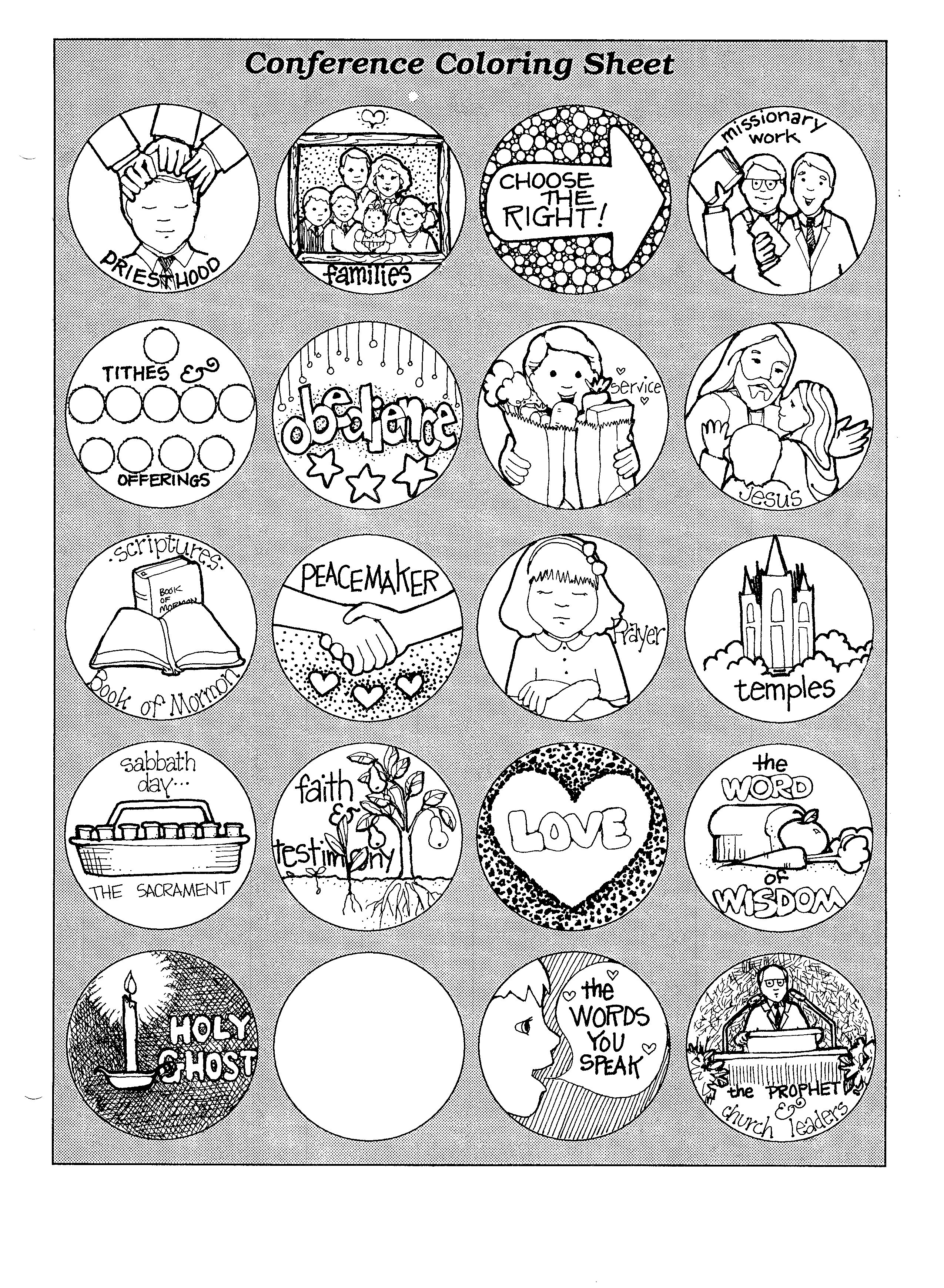 Mormon Share General Conference Coloring Page