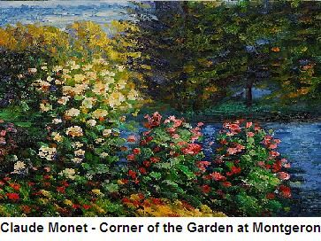 Claude Monet painting -Center of the Garden at Montegaron