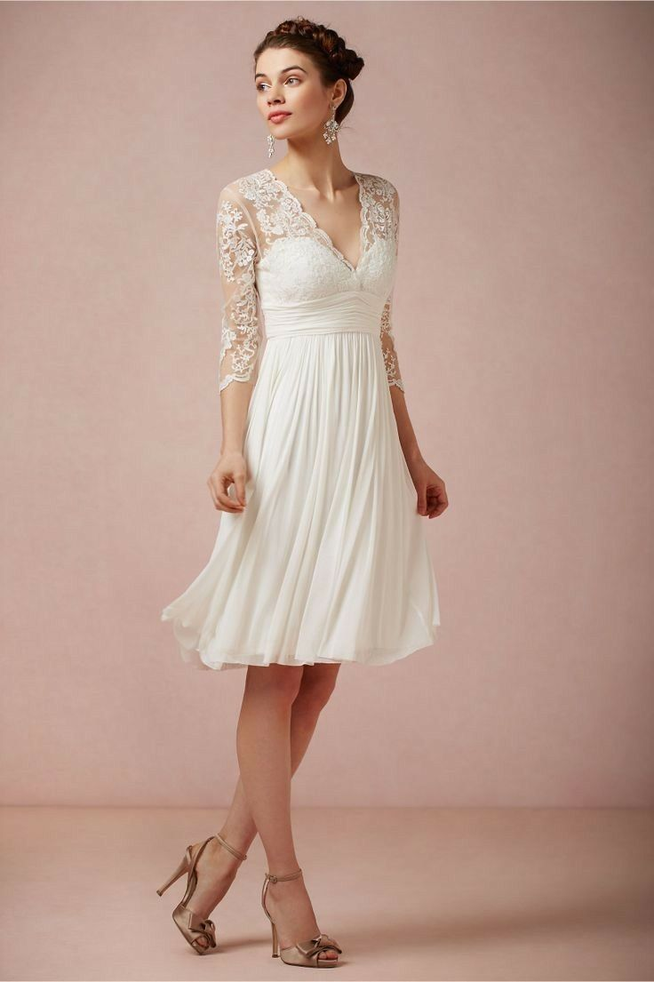 Casual wedding dress with sleeves  Pin by Lisa Shemonsky C on christmas  Pinterest