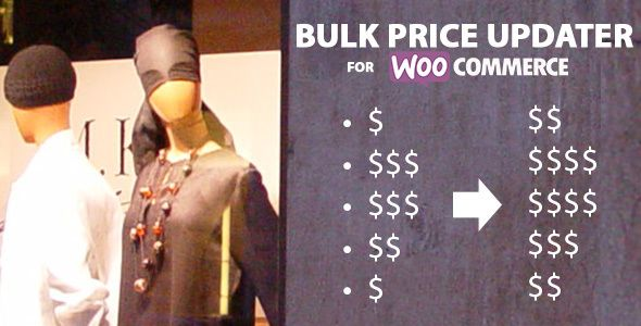 WooCommerce Bulk Price Updater . This plugin allows show owner / manager to bulk update product's price based on product category.Price also can be increased / decreased by Percentage (%) OR fixed price also Add / Subtract.Save as template and use it at any time