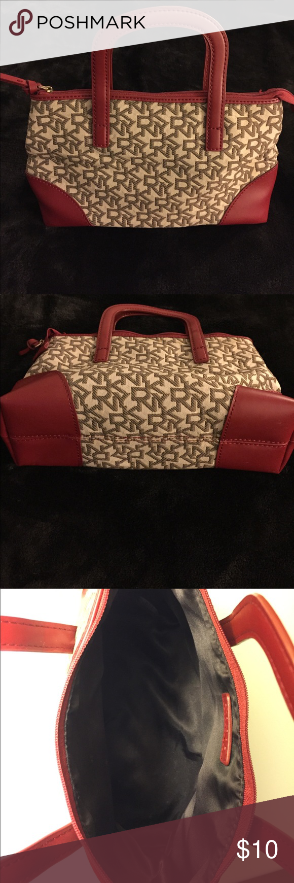 "DKNY Mini Purse/Cosmetic Bag Excellent condition!! Small enough for a night out, or could be used as a cosmetic bag.  Approx. 10.5"" Wide and 6"" in Length. DKNY Bags Mini Bags"