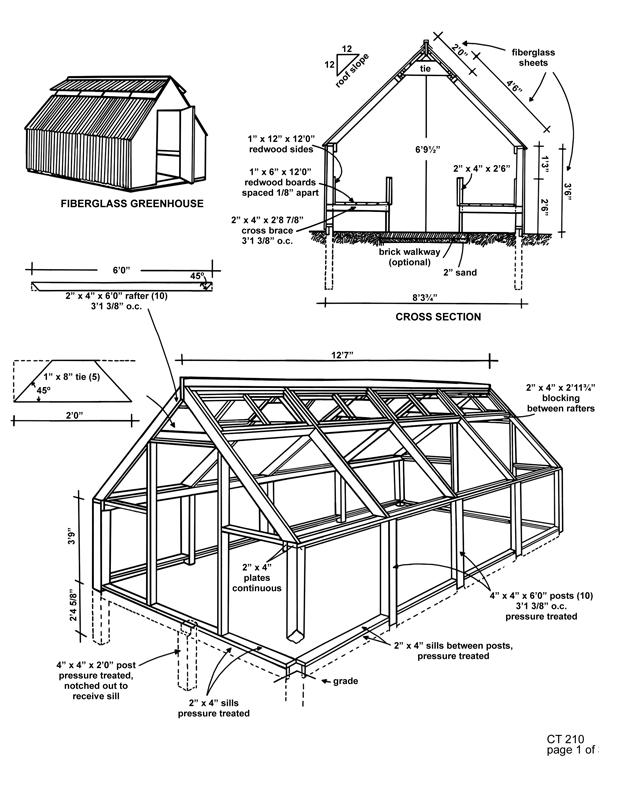 Greenhouse Plans Ct 210 Fiberglass 1 Greenhouse
