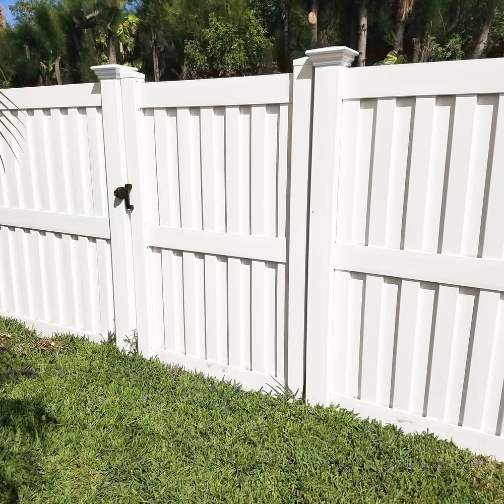 Weatherables Largo 6 Ft H X 6 Ft W White Vinyl Privacy Fence Panel Kit Pwpr Pa 1000 In 2020 Vinyl Privacy Fence Privacy Fence Panels White Vinyl Fence