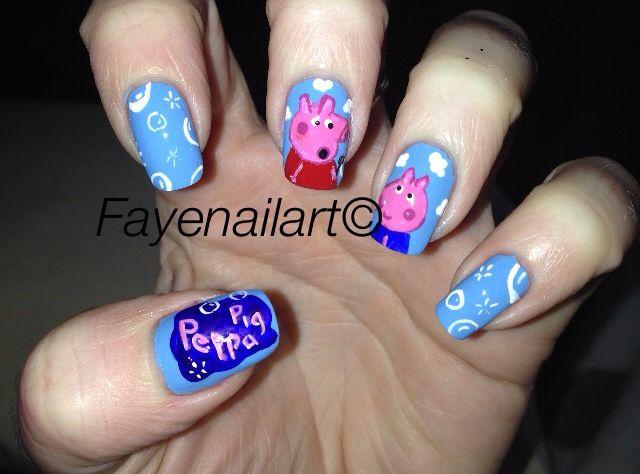 Peppa Pig Nails