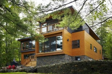 Maison bois Canada 1-460x305 | architecture | Pinterest | Maison ...