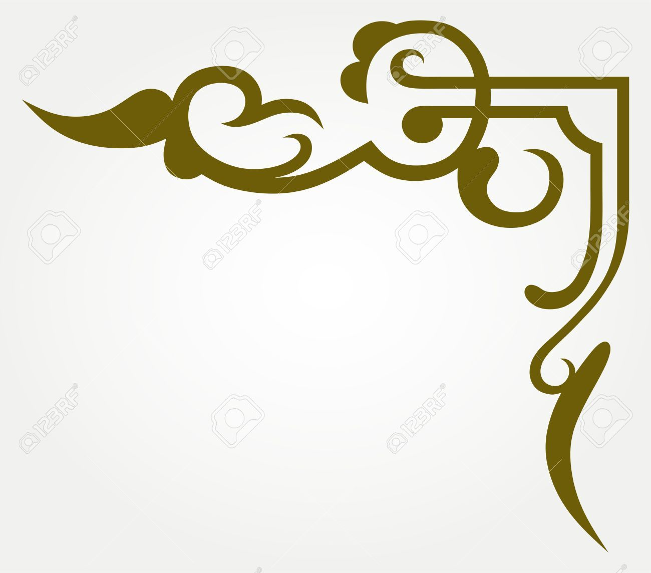 15843208 Calligraphic Design Element And Page Decoration Stock
