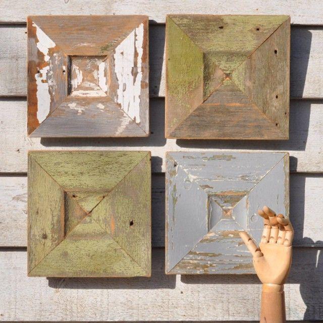 New in- American folk art tile #vintage #interiors #design #home decor #folk art #Homebarn  http://www.homebarnshop.co.uk/american-barn-wood-folk-tiles-p-1322.html