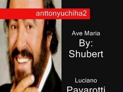 Ave Maria Luciano Pavarotti Andrea Bocelli Mario Lanza