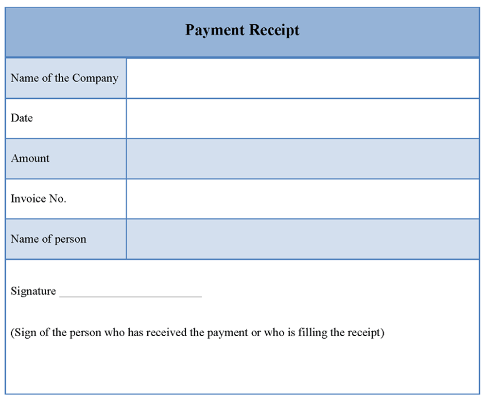 Receipt Payment Form Download Invoice Template Free Meeting Ledger