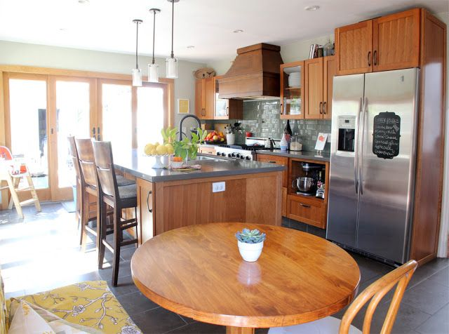 6th Street Design School: Feature Friday: Pepper Design. Unpainted Cabinets  And Dark Tile