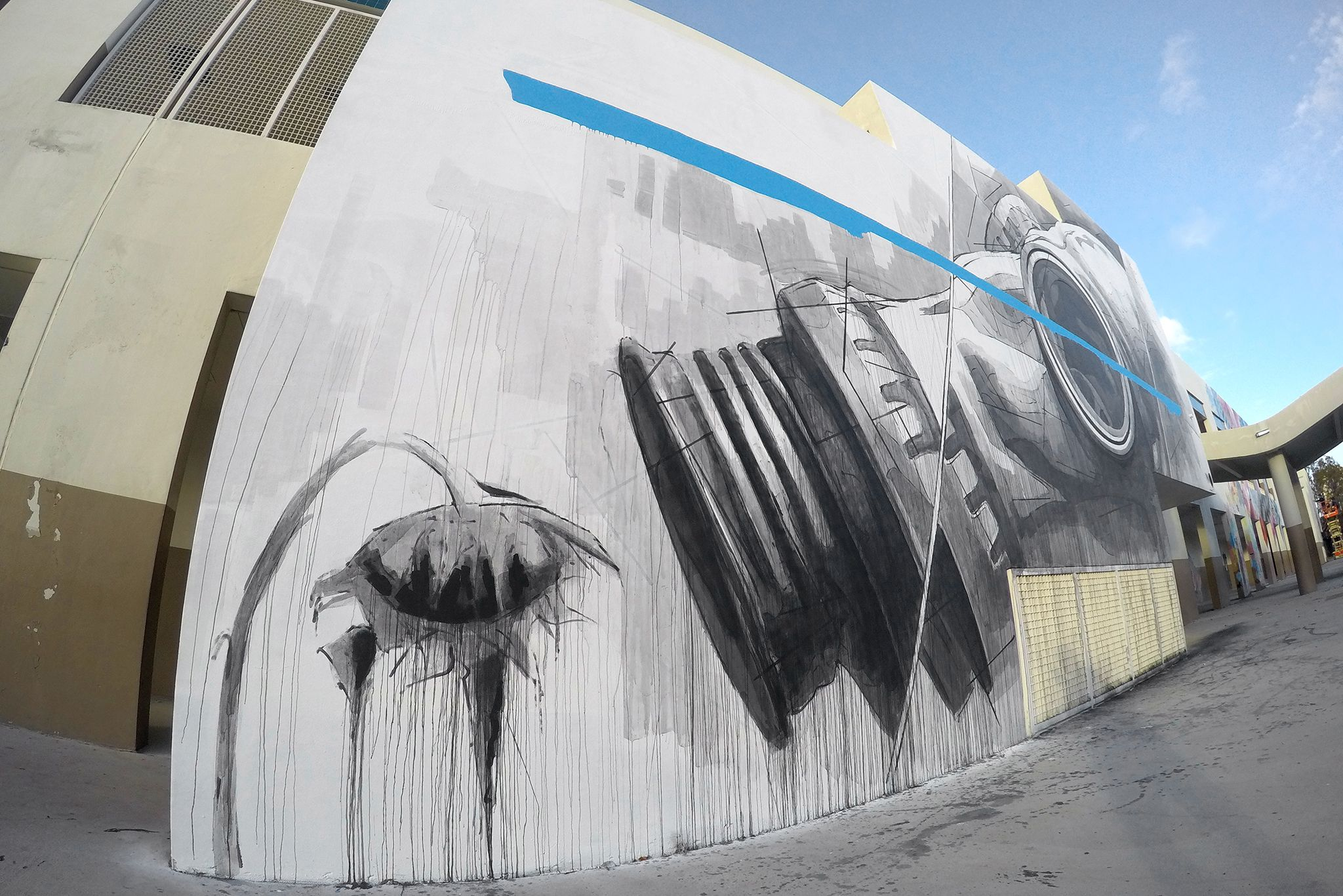 Artist Ino Location Miami Usa Material Acrylic Paint On Wall Title Fail Project The Raw Project Ino Artist Murals Street Art Street Art Urban Art