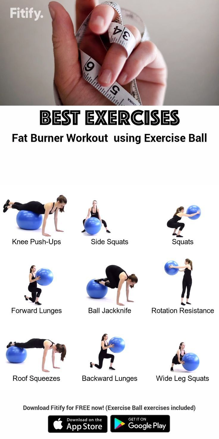 Exercise ball  Weightloss Exercises - Dumbbell - Ideas of Dumbbell #Dumbbell -  Exercise Ball (Swiss Ball)  Burn fat for Women Routine High-intensity cardio exercises to boost your metabolism as quickly as possible. Download Fitify for FREE now! (Exercise Ball exercises included) Fitify is a video coaching app which gives you full workout sessions with Stability Ball Kettlebell Dumbbell and other tools. Increase muscular strength posture and balance as well. #stabilityball #dietplan #loseweight #dumbbellexercises