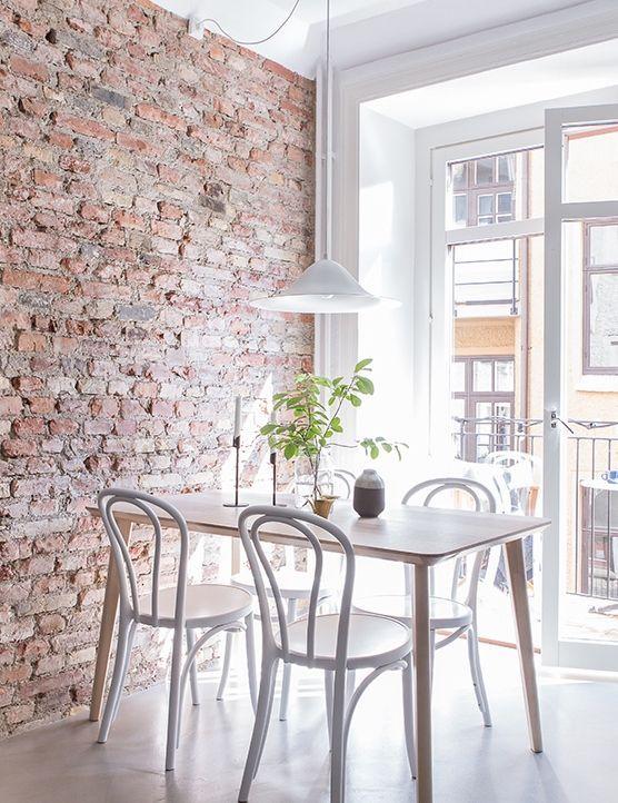 Une salle à manger simple #design, #décoration, #salon, #luxe