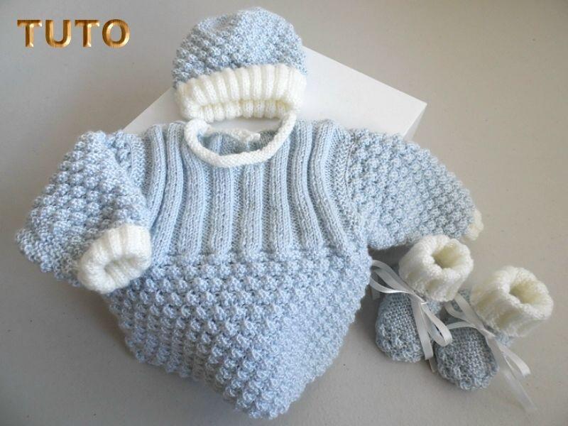 EXPLICATIONS tricot bébé, tuto, tutoriels en PDF, téléchargement ...