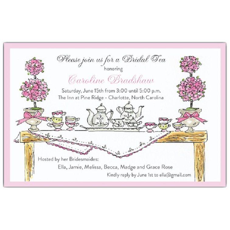 Tea Party Invitation Verses Card