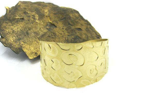 Gold leopard Cuff bracelet, Print Cuff, pattern jewelry, Bridesmaids Gift, Animal jewelry, Gift idea, Boho Cuff , Wrap bracelet, Adjustable