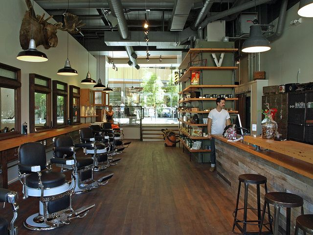 Atriums newest store, Victory Barber Shop, this is where Belle Bulldog hangs out. by beth.rand, via Flickr