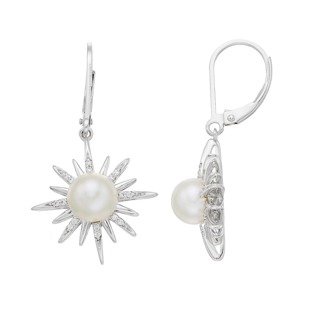 d712285122138 Vera Wang Simply Vera Sterling Silver Freshwater Cultured Pearl & 1 ...