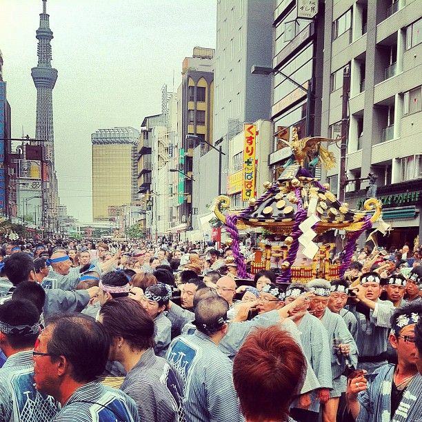 Sanja matsuri in asakusa #tokyo #japan #culture #mikoshi