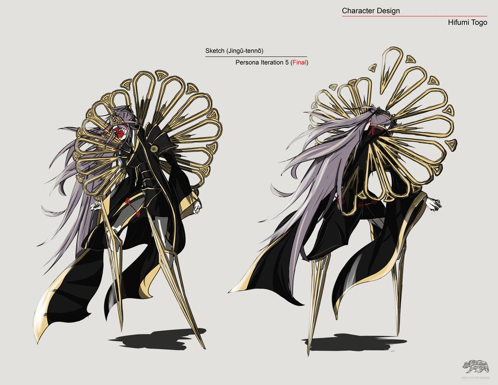 Hifumi Togo Persona Design Empress Jingū Persona5