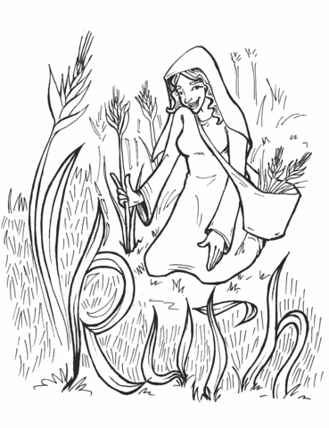 Ruth Coloring Page Bible Coloring Pages Ruth Bible Coloring Pages