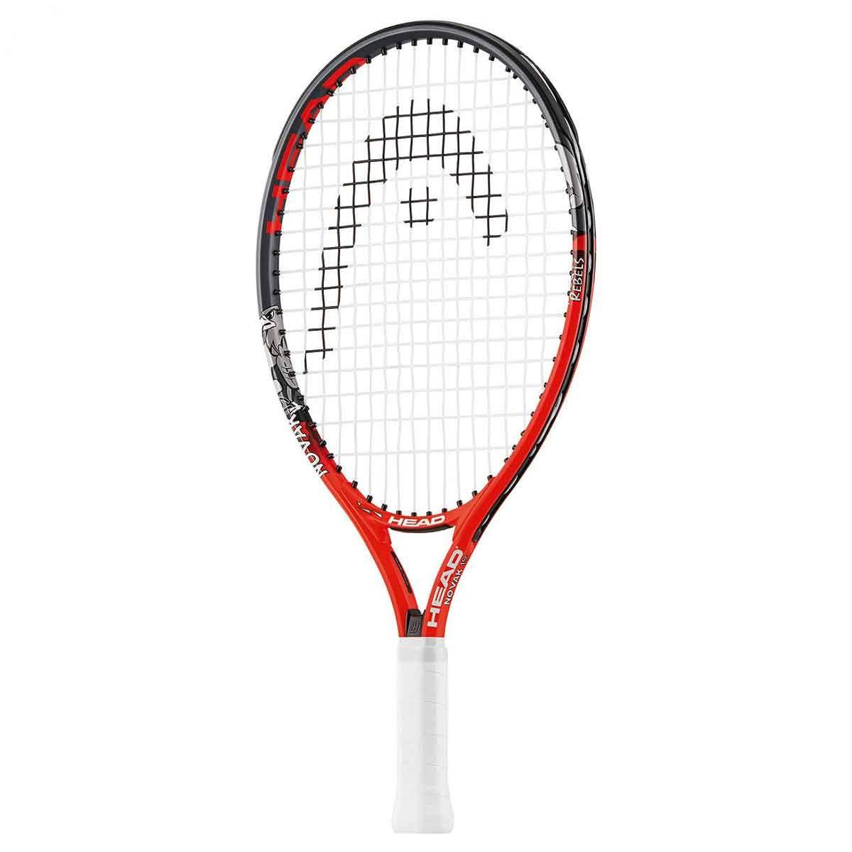 Head Novak 19 Junior Tennis Racquet Red Black Strung Tennis Racquet Tennis Racquets