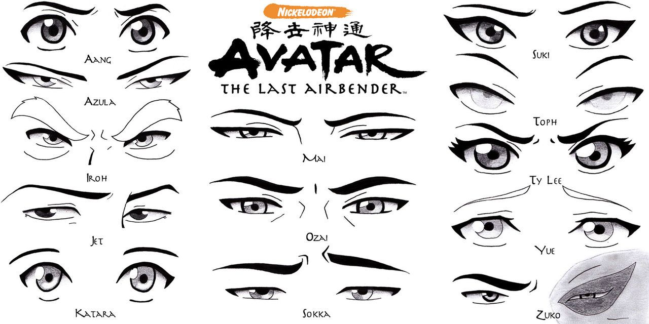 Eye set avatar the last airbender by sapphire56 deviantart com on deviantart