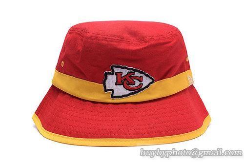 450a4243c4a00 NFL Kansas City Chiefs Bucket Hats Red Yellow-Stripe
