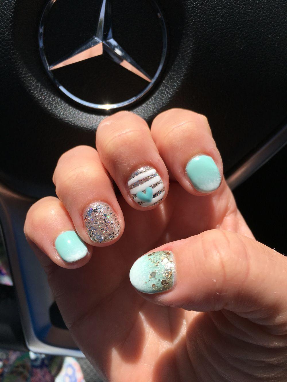 Reverse ombré nail art CK Nails, Closter NJ | Nails | Pinterest