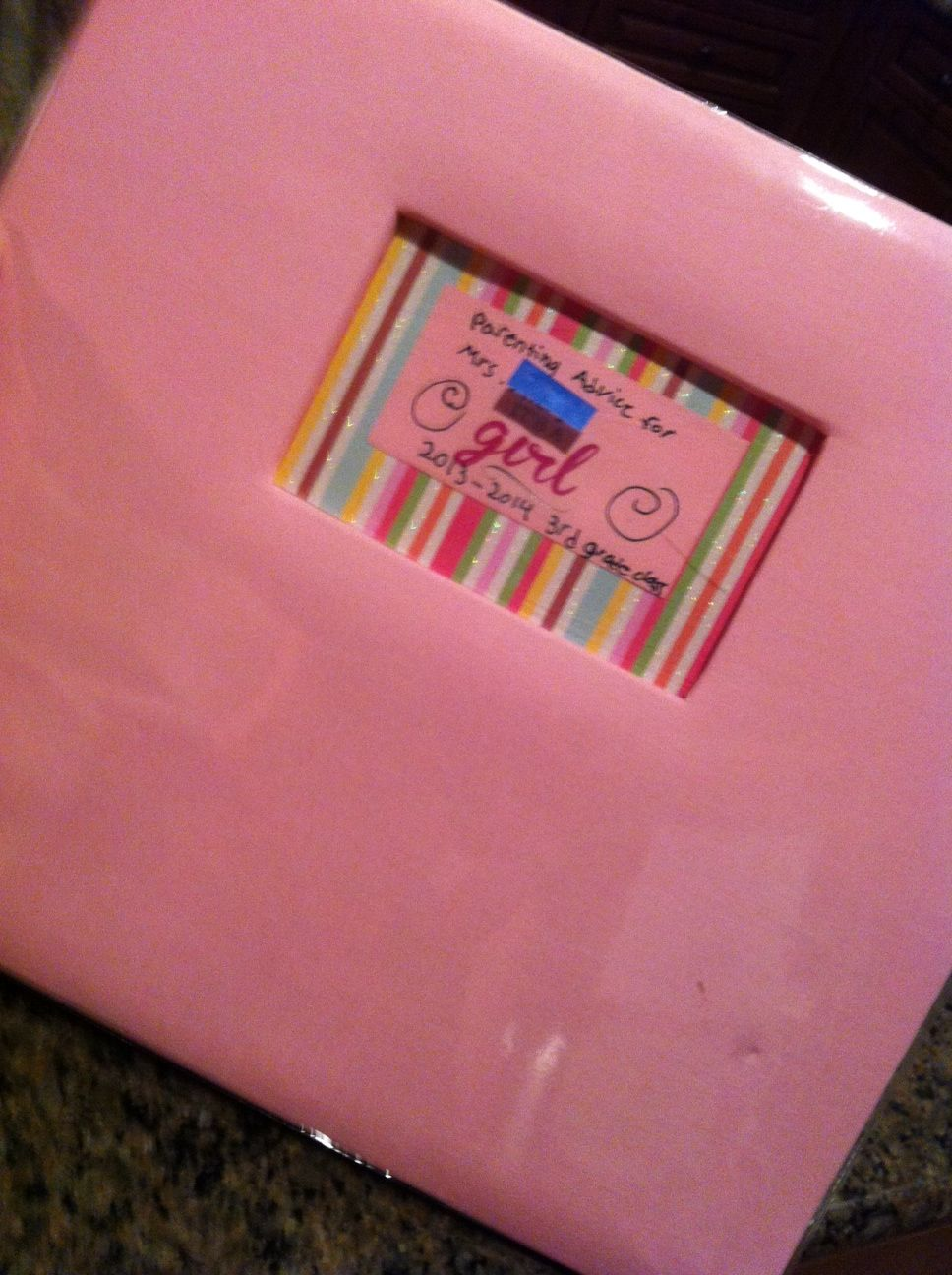 Scrapbook ideas step by step - Baby Shower Learning Exercise To Honor Teacher About To Go On Maternity Leave Step
