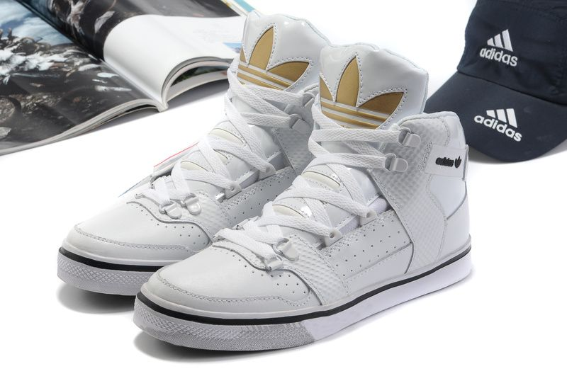 Buy Authentic Adidas Originals Hardland High White Gold Skull .