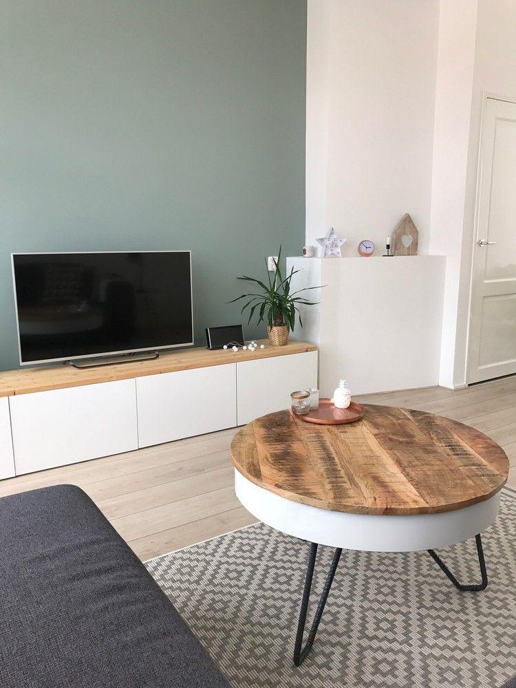 tv meubel Ikea Jaren 30 woning Woonkamer makeover Haarlem ©BintiHome ...