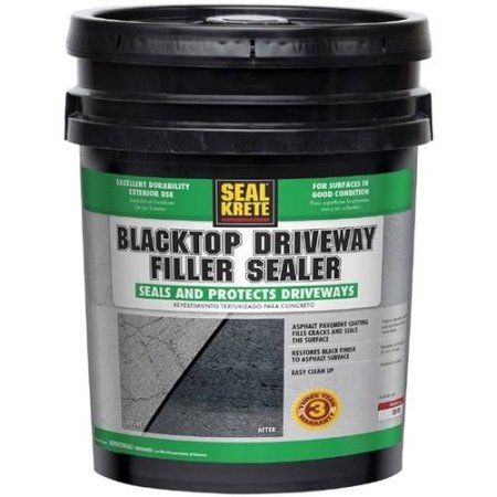 Seal Krete Blacktop Driveway Filler Sealer 5 Gal Black