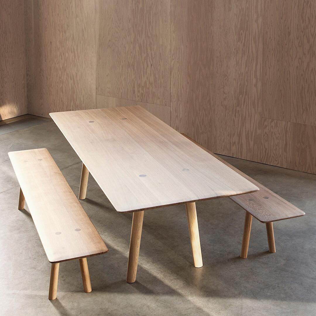 Ovo Dining Table And Bench Designed By Foster Partners