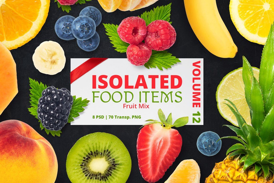 Isolated Food Items Vol 12