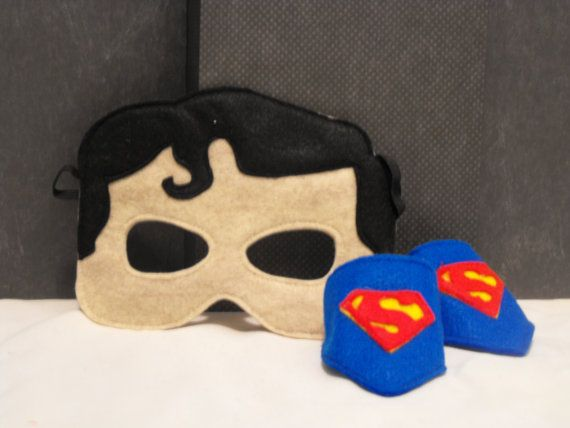 Superman a estim masque et manchettes par capesncrowns - Masque superman ...