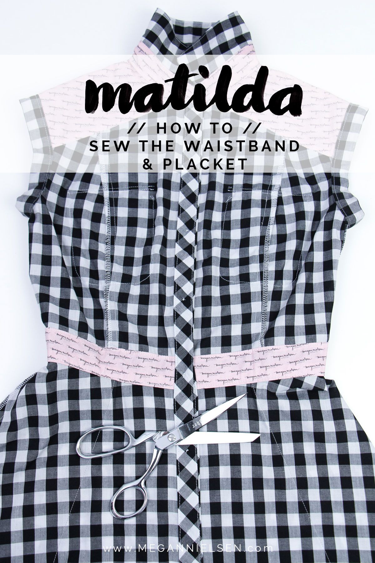 How to sew the waistband and placket a matilda dress tutorial how to sew the waistband and placket a matilda dress tutorial jeuxipadfo Images
