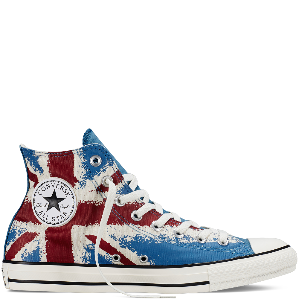 7dc1793f615e Chuck Taylor All Star UK Flag Print egret red blue Yep. I broke down and  bought them  )
