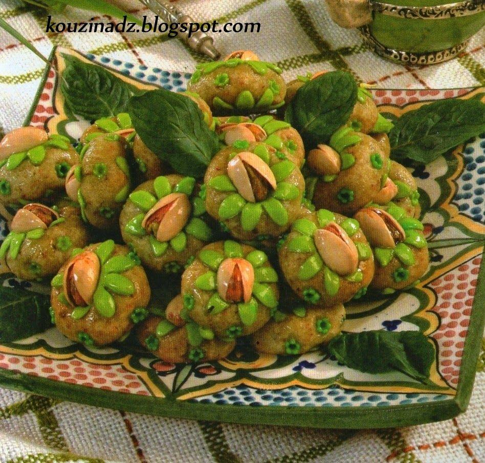 La Cuisine Algerienne: La Cuisine Algérienne: Gateau D'amande Et De Pistache