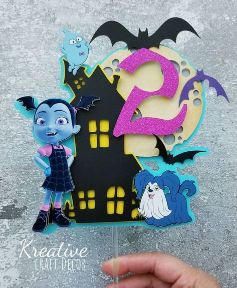 Photo of Vampirina cake topper/vampirina birthday party/vampirina decoration/ cake decoration/vampirina theme/vampirina party decoration/cake topper