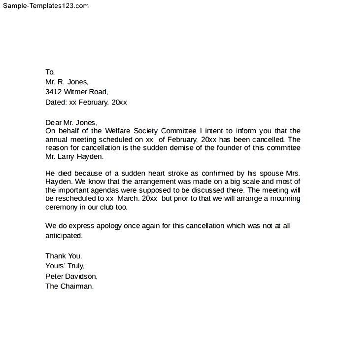 Cancellation letter format event sample templates for services sample notice cancellation letter free documents pdf word service termination templates example best free home design idea inspiration spiritdancerdesigns Choice Image