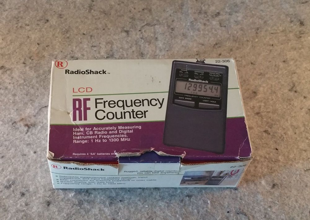 Radio Shack 22-306 Frequency Counter - Tested working Excellent (C13B1)......... #RadioShack | Radio shack. Radio. Cb radio