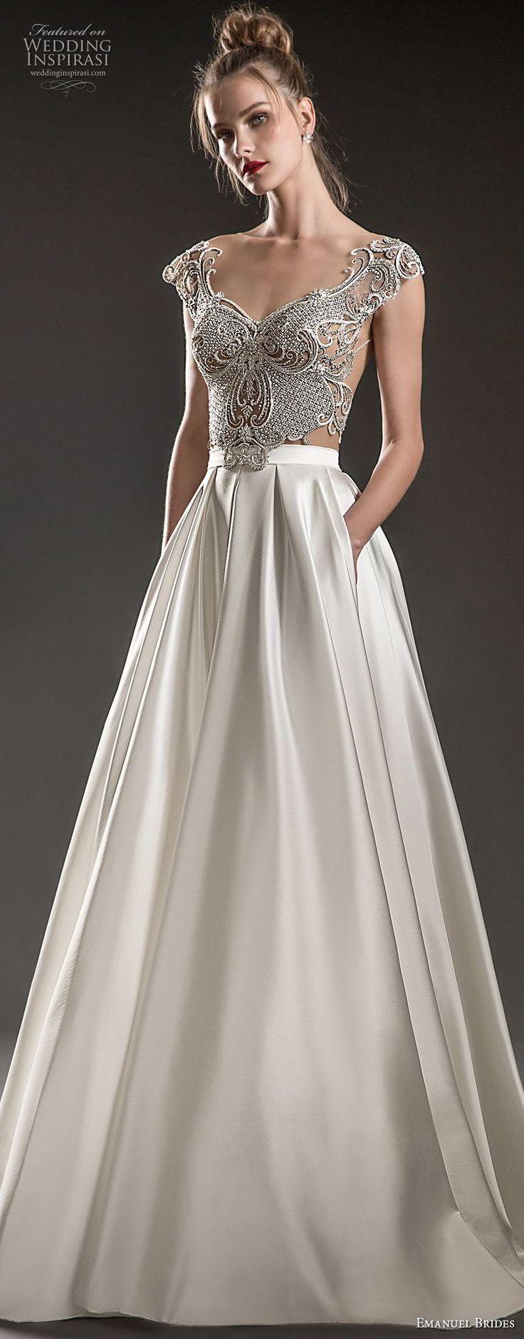 Romantische Hochzeitskleid-Idee – tiefes Hochzeitskleid mit V
