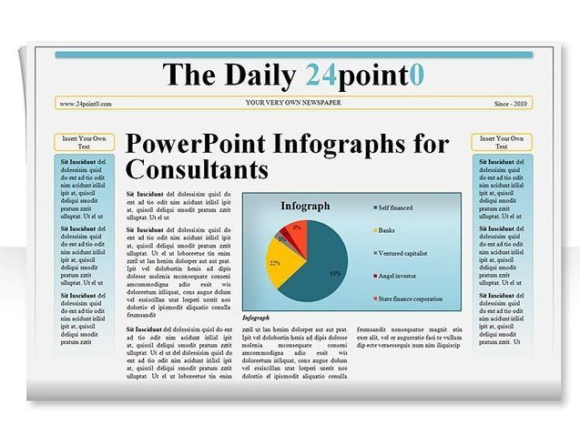 Editable Powerpoint Template Newspaper Illustrations