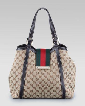 6a1de976834 ShopStyle: Gucci New Ladies Web GG Tote Bag, Large | Women's Apparel ...