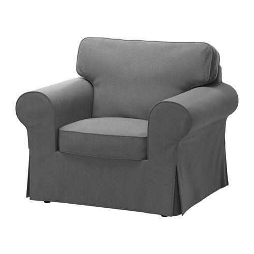 EKTORP Chair cover, Nordvalla dark gray Dark grey, Armchairs and - ikea ektorp gra
