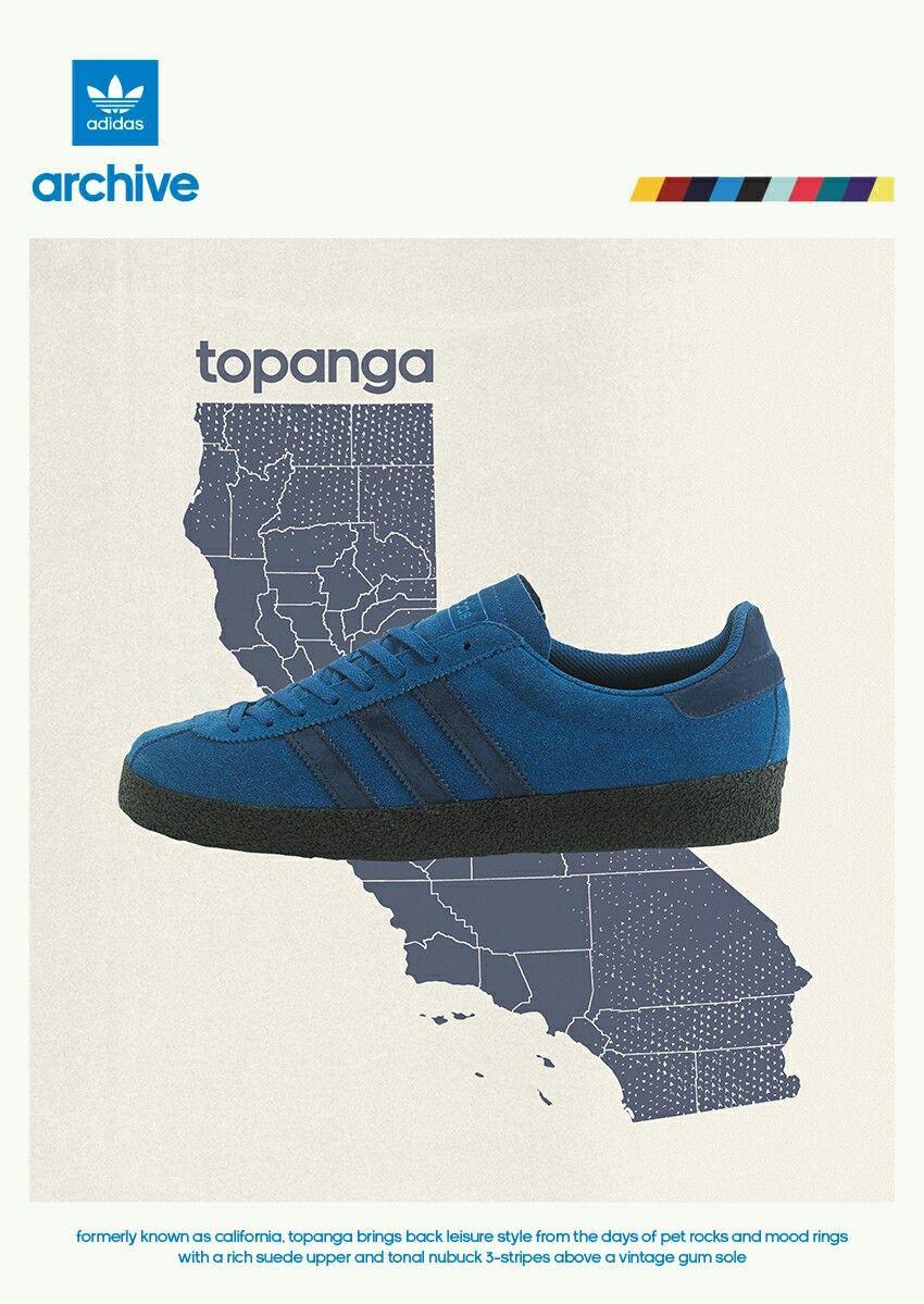Poster of adidas Topanga Marine blue - adiart ☺