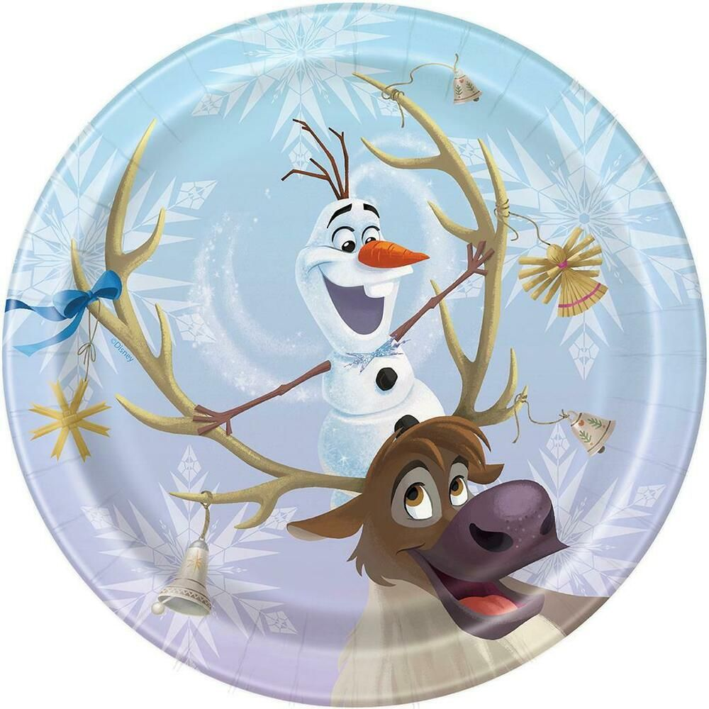 Disney Frozen Olaf Dessert Cake Plates Christmas Holiday