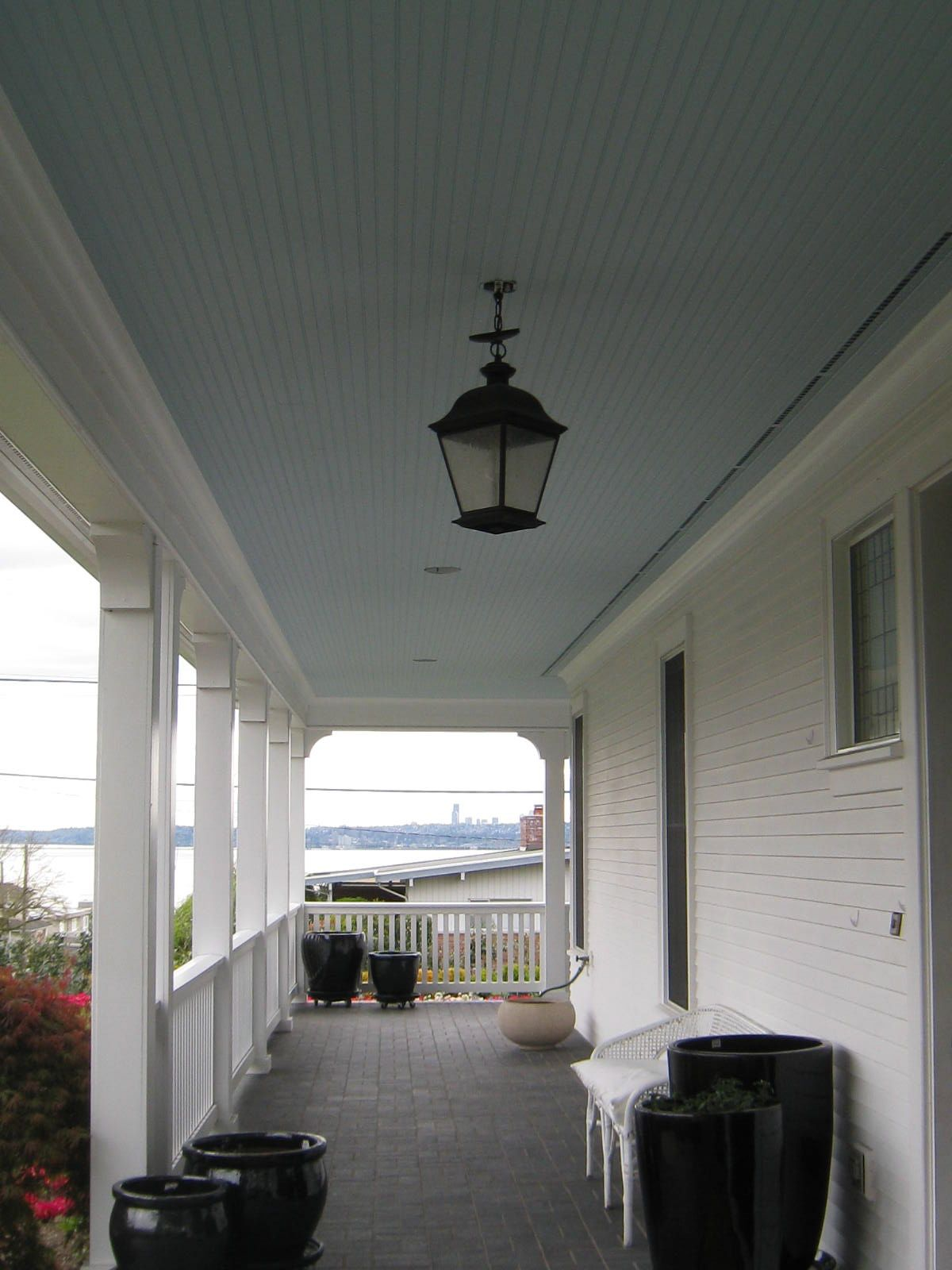 Sherwin Williams Atmospheric 6505 Paint Blue Porch Ceiling